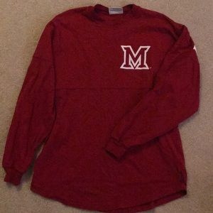 Miami University Long Sleeve Red Tee